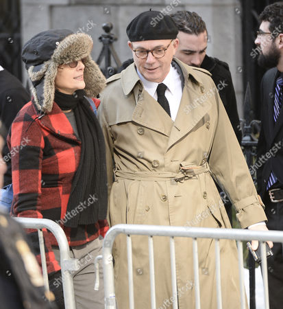 Us Actress Diane Keaton (l) Arrives For the Funeral Mass For Us Actor Phillip Seymour Hoffan at St Ignatius Church in New York New York Usa 07 February 2014 Hoffman 46 Died 02 February From a Suspected Drug Overdose United States New York