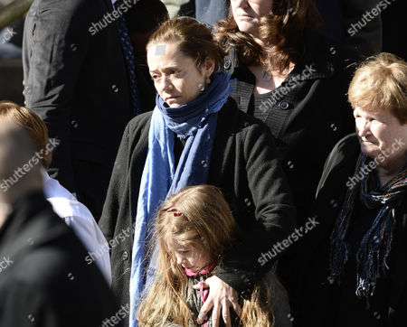 Long Time Girlfriend of Us Actor Phillip Seymour Hoffman Mimi O'donnel (l) with Their Daughter Willa (c) Leave the Funeral Mass For Hoffman at St Ignatius Church in New York New York Usa 07 February 2014 Hoffman 46 Died 02 February From a Suspected Drug Overdose United States New York