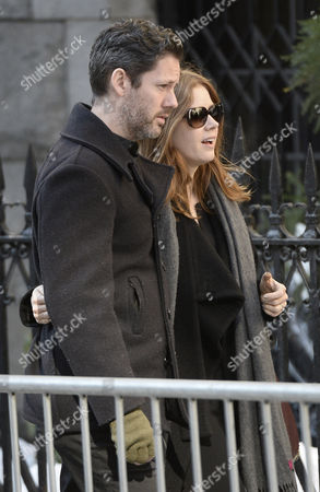 Us Actress Amy Adams and Husband Darren Le Gallo (l) Arrive For the Funeral Mass For Us Actor Phillip Seymour Hoffan at St Ignatius Church in New York New York Usa 07 February 2014 Hoffman 46 Died 02 February From a Suspected Drug Overdose United States New York