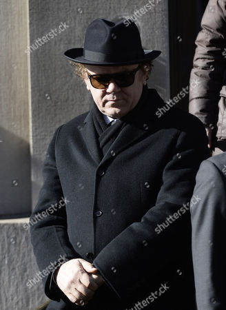 Us Actor John C Reilly Leaves the Funeral Mass For Us Actor Phillip Seymour Hoffman at St Ignatius Church in New York New York Usa 07 February 2014 Hoffman 46 Died 02 February From a Suspected Drug Overdose United States New York