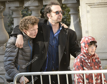 Us Screenwriter David Bar Katz (c) Arrives For the Funeral Mass For Us Actor Phillip Seymour Hoffan at St Ignatius Church in New York New York Usa 07 February 2014 Hoffman 46 Died 02 February From a Suspected Drug Overdose United States New York
