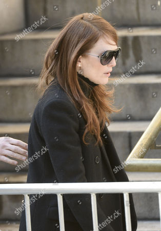 Us Actress Julianne Moore Arrives For the Funeral Mass For Us Actor Phillip Seymour Hoffan at St Ignatius Church in New York New York Usa 07 February 2014 Hoffman 46 Died 02 February From a Suspected Drug Overdose United States New York