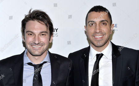 Jonathan Badeen (l) and Sean Rad Co-founders of Tinder Arrive For the 19th Annual Webby Awards in New York New York Usa 18 May 2015 the Annual Awards Honor International Excellence on the Internet in a Variety of Categories Including Websites Advertising and Media Online Film and Video Mobile Sites and Apps and Social Content United States New York