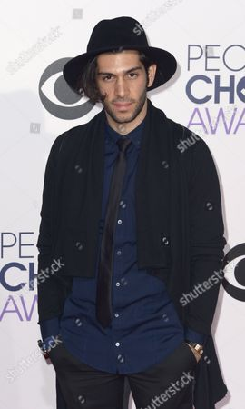 Stock Photo of Us Actor Mohammad Molaei Arrives For the 41st People's Choice Awards in Los Angeles California Usa 07 January 2015 United States Los Angeles