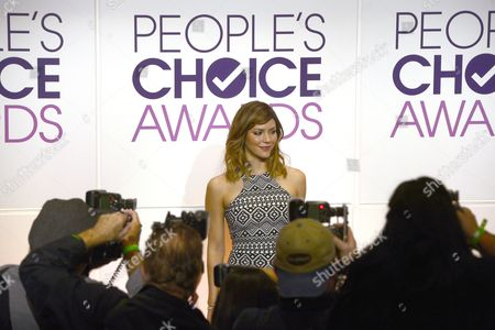 Us Actress Katherine Mcphee Poses For Photos After Announcing the Nominations For the People's Choice Awards 2015 in Beverly Hills California Usa 04 November 2014 the Show Will Be Held at the Nokia Theater in Los Angeles on 07 January 2015 United States Beverly Hills