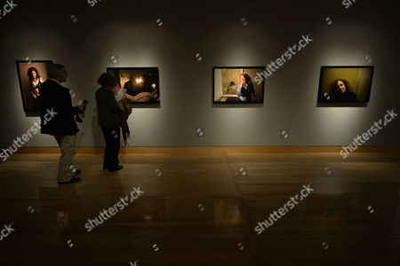 A Picture Made Available on 12 January 2014 Shows Visitors Attending the Exhibition 'Nan Goldin: Nine Self-portraits' Displaying Photographs of Us Photographer Nan Goldin at the Fraenkel Gallery in San Francisco California Usa 09 January 2014 the Exhibit Runs Through 08 March 2014 United States San Francisco