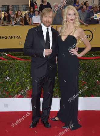 Norwegian Director Morten Tyldum (l) and Janne Tyldum (r) Arrive at the 21st Annual Screen Actors Guild Awards Ceremony at the Shrine Auditorium in Los Angeles California Usa 25 January 2015 United States Los Angeles