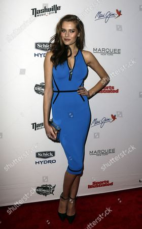 Stock Picture of Danish Model and Sports Illustrated Swimsuit Model Solveig Mork Hansen Poses During the 2015 Sports Illustrated Swimsuit Issue Party in New York New York Usa 10 February 2015 United States New York