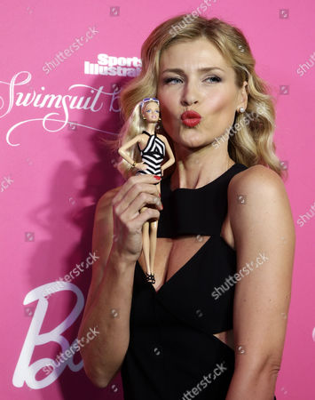 Czech Model Daniela Pestova Arrives For the Barbie Celebrates 50th Anniversary of Sports Illustrated Swimsuit Issue Party in New York Usa 17 February 2014 United States New York