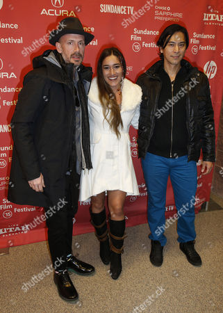 Us Producer Wicks Walker (l) German Actress Q'orianka Kilcher (c) and Actor Kalani Queypo (r) Arrive For the Premiere of 'Last Days in the Desert' at the 2015 Sundance Film Festival in Park City Utah Usa 25 January 2015 the Festival Runs From 22 January to 01 February 2015 United States Park City