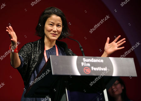 Stock Photo of Us Actress Jacqueline Kim Accepts the Us Dramatic Special Jury Award For Collaborative Vision For 'Advantageous' at the 2015 Sundance Film Festival Awards Night in Park City Utah Usa 31 January 2015 the Festival Runs From 22 January to 01 February 2015 United States Park City