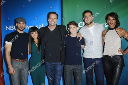 Cast Members of 'Heroes Reborn' Us Actors (l-r) Ryan Guzman Kiki Sukezane Jack Coleman Robbie Kay Zachary Levi Judi Shekoni Arrive For the Nbcuniversal 2015 Summer Press Tour at the Beverly Hilton in Beverly Hills California Usa 13 August 2015 the Biannual Press Tour Event is Held by the Us Television Critics Association and is where Each Us Tv Network Introduces Their New Shows United States Los Angeles