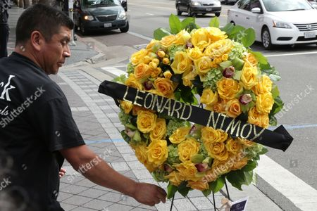 A Florist Places a Wreath at Leonard Nimoy's Star on the Hollywood Walk of Fame in Hollywood California Usa 27 February 2015 Leonard Nimoy the Actor who Played Mr Spock on the 1960s Us Television Series Star Trek is Dead Confirmed the Actor's Agent on 27 February the 83-year-old Died at His Home in Los Angeles the Cause of Death was End-stage Chronic Obstructive Pulmonary Disease (copd) Nimoy Acted in Numerous Movies and Television Series But was Best Known For His Portrayal of Spock in the Star Trek Tv Show and Movies where the Character Eventually was Promoted to Commander Though the Series Which Debuted in 1966 Ran Only Three Seasons the Role of the Unemotional Pointy-eared Vulcan Made Nimoy a Folk Hero United States Hollywood