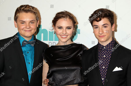 (l-r) Us Actors Reese Hartwig Ella Wahlestedt and Teo Halm of the Movie 'Earth to Echo' Arrive For the 5th Annual Thirst Gala at the Beverly Hilton Hotel in Beverly Hills California Usa 24 June 2014 the Thirst Gala Honors Those who Have Made a Difference in Fighting the World Water Crisis United States Los Angeles