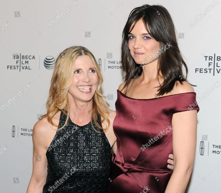 Stock Picture of Us Actress/cast Member Katie Holmes (r) and Us Film Director Karen Leigh Hopkins (l) at the World Premiere of 'Miss Meadows' at the Tribeca Film Festival in New York New York Usa 21 April 2014 the Tribeca Film Festival Runs Through 27 April United States New York