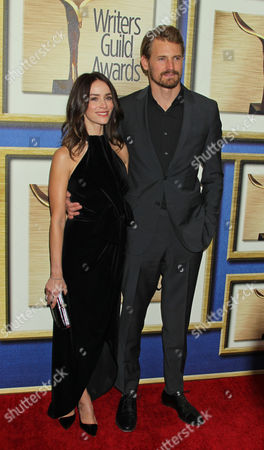 Stock Image of Us Actress Abigail Spencer and Husband Andrew Pruett at the Writers Guild Awards at a Hotel in Los Angeles California Usa February 14 2015 United States Los Angeles