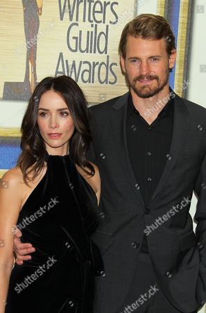 Us Actress Abigail Spencer and Husband Andrew Pruett at the Writers Guild Awards at a Hotel in Los Angeles California Usa February 14 2015 United States Los Angeles