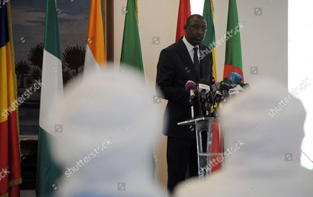 Malian Minister of Foreign Affairs Abdoulaye Diop Speaks During the 5th Round of the Inclusive Intermalien Dialogue Between the Malian Government and Representatives of the Political-military Groups in Northern Mali Have Joined the Negotiation Process Under the Leadership of Algeria Algiers Algeria on 16 February 2015 Negotiations Between the Different Malian Parties Had Started in July 2014 and the Same Parties Were Committed to Reaching a Peace Agreement in Accordance with the Roadmap Signed During the First Round the 5th Round of the Algiers Process was Preceded by Holding Last Wednesday a Meeting Between the Malian Government and the International Mediation Team Intermalien Dialogue Chaired by the Foreign Minister and Prime Ramtane Lamamra Malian Minister Modibo Keita Algeria Algiers