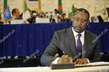 Malian Minister of Foreign Affairs Abdoulaye Diop Takes Part in a Peace and Reconciliation Agreement Signing Ceremony Between the Malian Government and the Political-military Movements of Northern Mali in Algiers Algeria 01 March 2015 According to Reports United Nations Representatives Said That the Agreement Represented a Sound Foundation For Lasting Peace and National Reconciliation with African Union Members Adding That the Agreement was a Crucial Phase in the Ongoing Negotiations Algeria Algiers