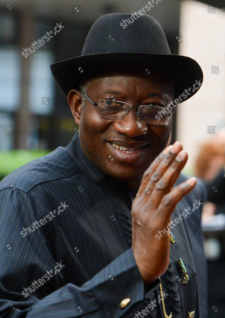 Nigeria's President Goodluck Ebele Jonathan Arrives Arrives at the Fourth Eu-africa Summit of Heads of States at the European Council Headquarters in Brussels Belgium 03 April 2014 Discussions at the Summit Will Focus on the Theme 'Investing in People Prosperity and Peace' Topics Will Include Education and Training Women and Youth Legal and Illegal Migrant Flows Between Both Continents Ways to Stimulate Growth and to Create Jobs Investing in Peace and in Ways to Enhance Eu Support For African Capacities in Managing Security in the Continent Belgium Brussels