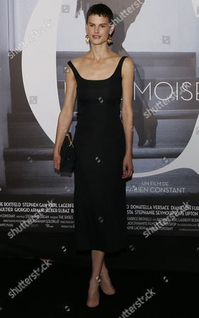Dutch Model Saskia De Brauw Attends the Premiere of the Documentary 'Mademoiselle C' by French Director Fabien Constant in Paris France 01 October 2013 the Film is a Documentary on Carine Roitfeld France Paris