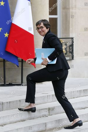 French Sports and Youth Minister Valerie Fourneyron Arrives at the Elysee Palace For a Meeting with President Francois Hollande (not Pictured) Over a Plan For a 75-per-cent Wealth Tax in Paris France 31 October 2013 France's Ligue 1 and 2 Football Clubs Voted Unanimously on 24 October to Go on Strike on the Last Weekend of November Over Plans For a 75-per-cent Wealth Tax the Professional Clubs Union (ucpf) Announced France Paris