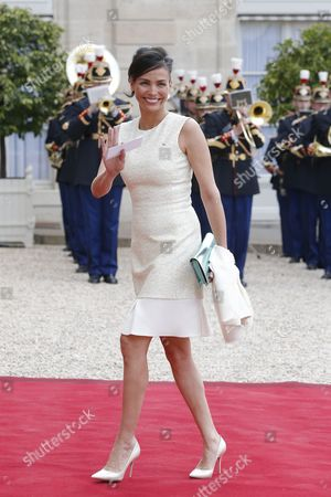Spanish Model Ines Sastre Arrives at the Elysee Palace For a State Diner in the Honor of Spain's King Felipe Vi and Queen Letizia in Paris France 02 June 2015 the Spanish Royal Couple's State Visit was Canceled in March 2015 Following the Crash of the Germanwings Flight 4u 9525 From Barcelona to Duesseldorf That Killed 144 Passengers and Six Crew Members on Board France Paris