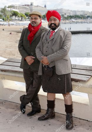 Indian Actor Cyrus Todiwala (l) Poses with Sikh Chef Tony Singh (r) During a Photocall For the Tv Show 'The Incredible Spice Men' at the Annual Mipcom Television Content Market in Cannes France 07 October 2013 the Media Event Runs From 07 to 10 October France Cannes