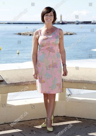 Welsh Actress Mali Harries Poses During a Photocall For the Tv Series 'Hinterland' at the Annual Mipcom Television Content Market in Cannes France 08 October 2013 the Media Event Runs From 07 to 10 October France Cannes