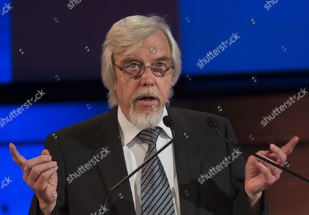 Director General of Cern (european Organization For Nuclear Research) Rolf Heuer Delivers a Speech During a Ceremony Marking the 60th Anniversary of Cern at Unesco's Headquarters in Paris France 01 July 2014 France Paris