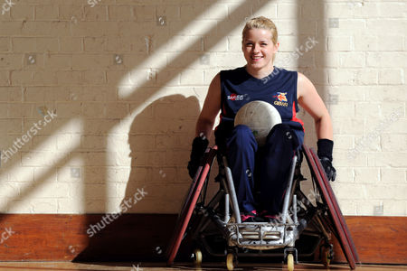 Josie Pearson, the only female player in the GB wheelchair rugby team for the Beijing Paralympics.