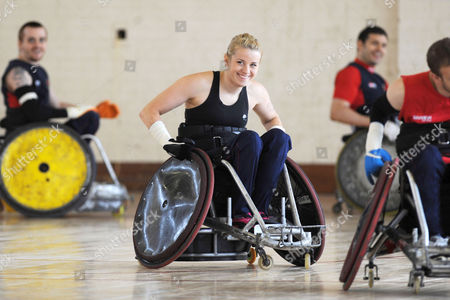 Editorial image of Team GB Wheelchair Rugby team practice for the Beijing Paralympics, Great Bircham, Norfolk, Britain - 16 Jul 2008