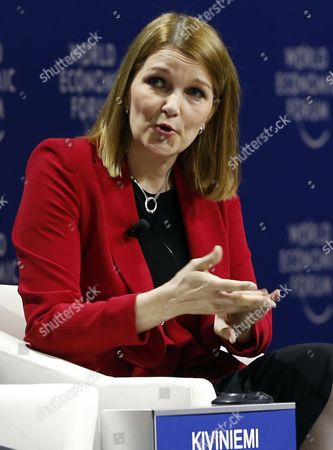 Stock Picture of Mari Kiviniemi Deputy Secretary-general of the Organisation For Economic Cooperation and Development (oecd) Speaks During a Panel Session on the First Day of the World Economic Forum (wef) on East Asia in Jakarta Indonesia 20 April 2015 the World Economic Forum is Putting Indonesia Southeast Asias Biggest Economy in the Spotlight of the International Community Indonesia Jakarta