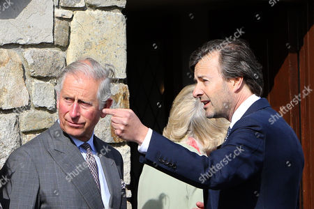 Britain's Prince Charles (l) Meets Lord Mountbatten's Grandson Timothy Knatchbull (r) who Survived the 1979 Bomb Blast in Mullaghmore County Sligo Ireland 20 May 2015 They Visited the Co Sligo Village of Mullaghmore where Prince Charles' Great-uncle Lord Mountbatten was Killed in an Ira Attack in 1979 Three Others Died Alongside Lord Mountbatten when a Bomb Exploded on a Boat As His Party Set out on a Fishing Trip on 27 August 1979 Ireland Mullaghmore