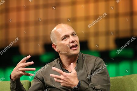Stock Photo of Tony Fadell of Nest Speaks on the Centre Stage During Day 2 of the 2014 Web Summit in the Rds Conference Centre Dublin Ireland 05 November 2014 the Summit Held Over Three Days is Europes Largest Technology Festival and Attracts Over 20 000 Attendees From 106 Countries Nest Reinvents Unloved But Important Home Products Like the Thermostat and Smoke and Co Alarm the Company Focuses on Delighting Customers with Simple Beautiful and Thoughtful Hardware Software and Services Ireland Dublin