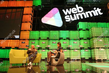 Tony Fadell (l) of Nest Speaks with an Unidentified Interviewer on the Centre Stage During Day 2 of the 2014 Web Summit in the Rds Conference Centre Dublin Ireland 05 November 2014 the Summit Held Over Three Days is Europes Largest Technology Festival and Attracts Over 20 000 Attendees From 106 Countries Nest Reinvents Unloved But Important Home Products Like the Thermostat and Smoke and Co Alarm the Company Focuses on Delighting Customers with Simple Beautiful and Thoughtful Hardware Software and Services Ireland Dublin