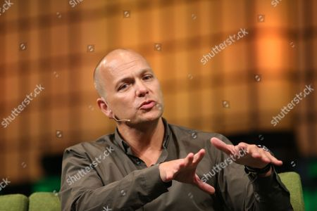 Stock Picture of Tony Fadell of Nest Speaks on the Centre Stage During Day 2 of the 2014 Web Summit in the Rds Conference Centre Dublin Ireland 05 November 2014 the Summit Held Over Three Days is Europes Largest Technology Festival and Attracts Over 20 000 Attendees From 106 Countries Nest Reinvents Unloved But Important Home Products Like the Thermostat and Smoke and Co Alarm the Company Focuses on Delighting Customers with Simple Beautiful and Thoughtful Hardware Software and Services Ireland Dublin