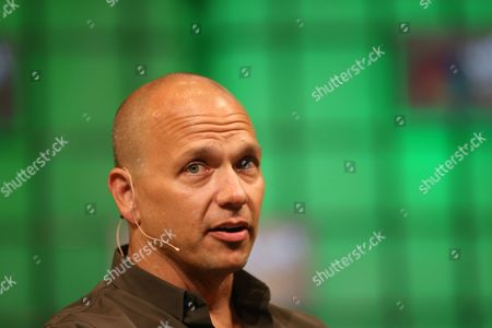 Stock Image of Tony Fadell of Nest Speaks on the Centre Stage During Day 2 of the 2014 Web Summit in the Rds Conference Centre Dublin Ireland 05 November 2014 the Summit Held Over Three Days is Europes Largest Technology Festival and Attracts Over 20 000 Attendees From 106 Countries Nest Reinvents Unloved But Important Home Products Like the Thermostat and Smoke and Co Alarm the Company Focuses on Delighting Customers with Simple Beautiful and Thoughtful Hardware Software and Services Ireland Dublin