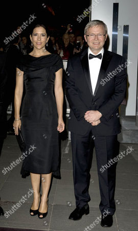 Prince Mary  and Prince Frederik at The Alannah and Madelaine Foundation Dinner at The National Gallery of Victoria.Also present was the Australian Prime Minister Kevin Rudd and former Americas Cup winning Captain John Bertram.At one point during the Prime Ministers speech Prince Frederik appeared faint and had to leave Princess Mary's side and sit down for a couple of minutes and drink a number of glasses of water.