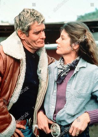 'Rodeo Girl'  TV Film - 1980 -  Wil Garrett (Bo Hopkins) in discussion with his wife Sammy (Katherine Ross)