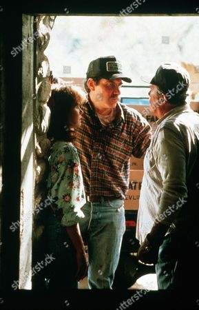 'Settle the Score'  TV Film - 1989 -        Katherine Whately (Jaclyn Smith)  stands watching an arguement between her brother Lincoln (Richard Masur) and Father Cy (Howard Duff).