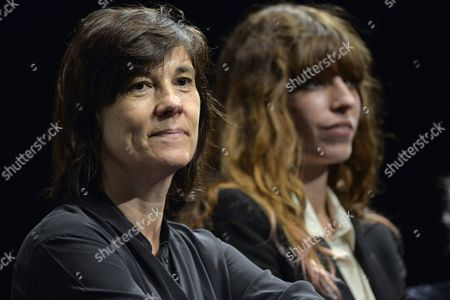 French Director Catherine Corsini (l) and Actress Lou Doillon (r) Attend the Opening Ceremony of the 21st Annual French Film Festival in Tokyo Japan 21 June 2013 the Festival Showcases a Selection of Recent French Films From 21 to 24 June Japan Tokyo
