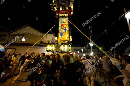 The Image Made Available on 05 August 2013 Shows a Traditional Votive Lantern Festival in the City of Nanao Ishikawa Province Japan on 03 August the Coastal Town on the Noto Peninsula was Designated a Unesco World Agricultural Inheritance in 2011 the First Such Authorization in a Developed Country Japan Nanao