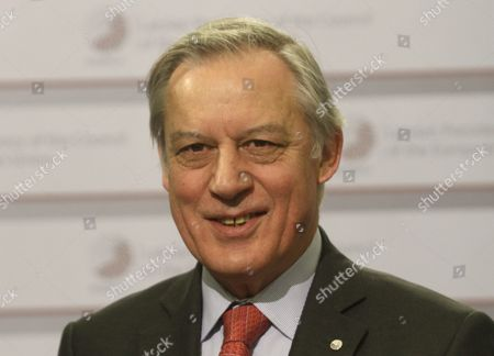 Governor of the Bank of France Christian Noyer During at Informal Meeting of Ministers For Economic and Financial Affairs (ecofin) in Riga Latvia 25 April 2015 Latvia Riga