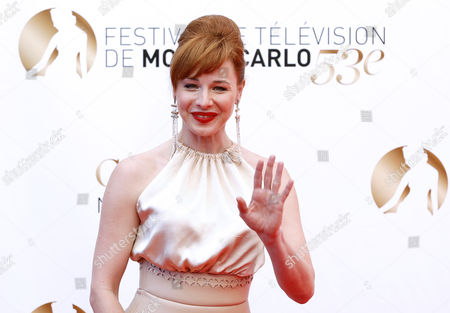 Hungarian Actress Eszter Onodi Poses During the Closing Ceremony of the Monte Carlo Television Festival in Monaco 13 June 2013 the Festival Runs From 09 to 13 June Monaco Monte Carlo