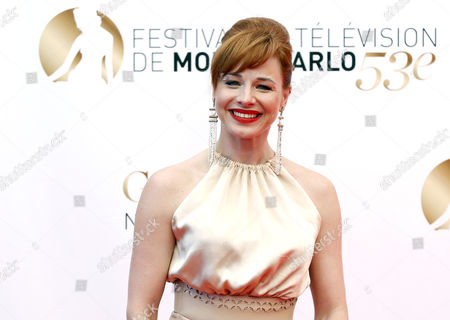 Stock Photo of Hungarian Actress Eszter Onodi Poses During the Closing Ceremony of the Monte Carlo Television Festival in Monaco 13 June 2013 the Festival Runs From 09 to 13 June Monaco Monte Carlo