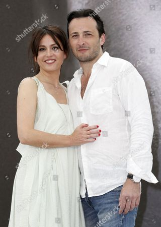 French Actors Michael Cohen and Anne Charrier (l) Pose During a Photocall For the Tv Series 'Maison Close' at the 53rd Monte Carlo Television Festival in Monaco 10 June 2013 the Festival Runs From 09 to 13 June Monaco Monte Carlo