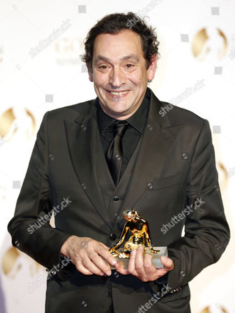 Spanish Director Agusti Villaronga Poses with His Golden Nymph Award During the Closing Award Ceremony of the Monte Carlo Television Festival in Monaco 13 June 2013 the Festival Runs From 09 to 13 June Monaco Monte Carlo