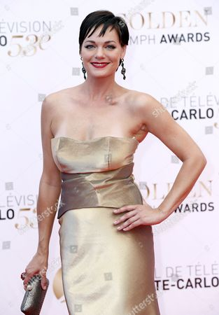 Us Actress Crystal Allen Poses During the Closing Ceremony of the Monte Carlo Television Festival in Monaco 13 June 2013 the Festival Runs From 09 to 13 June Monaco Monte Carlo