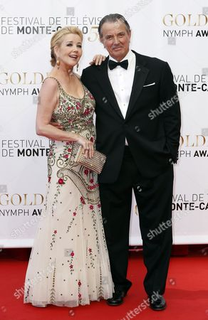 Us Actors Eric Braeden (r) and Melody Scott Thomas (l) During the Closing Ceremony of the Monte Carlo Television Festival in Monaco 13 June 2013 the Festival Runs From 09 to 13 June Monaco Monte Carlo
